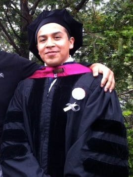 Cesar Vargas, 31, at his 2011 graduation from City University of New York Law School