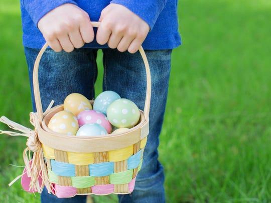 Easter eggs will be hidden throughout Monk Gardens