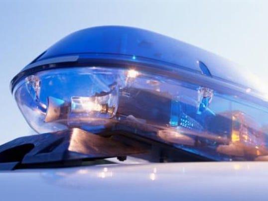 Police lights day