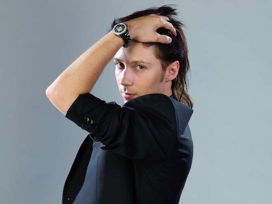 Johnny Weir posing for his (201) Magazine story.