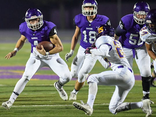 Waukee Quarterback Mitch Randall (4) is one of the state's top 2020 prospects to watch this season.
