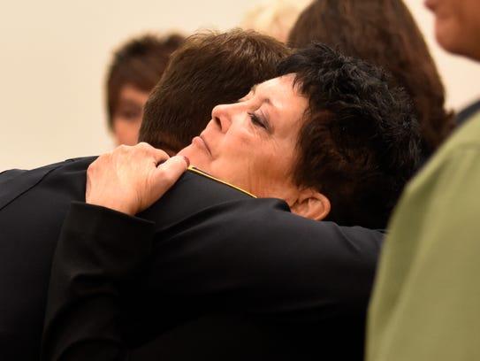 Julie Benner, widow of police officer Gregg Benner,