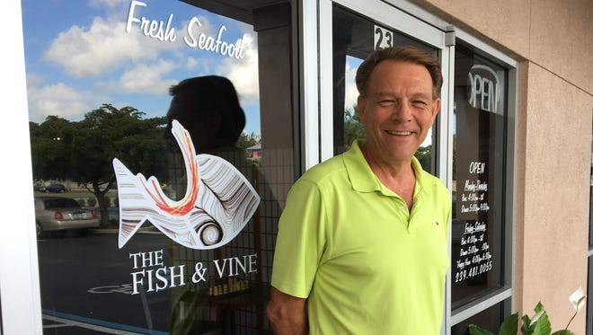 Merv Johnson owns The Fish & Vine in Fort Myers with his partner, Amy Abernathy.