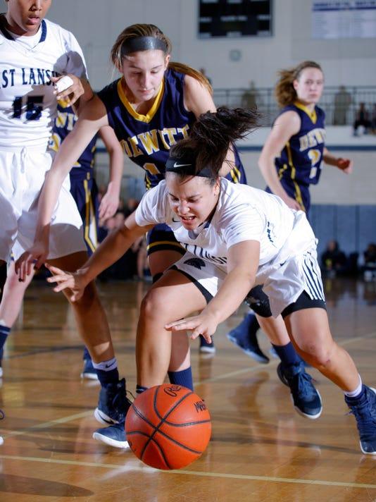 DeWitt vs East Lansing District Final Girls Basketball