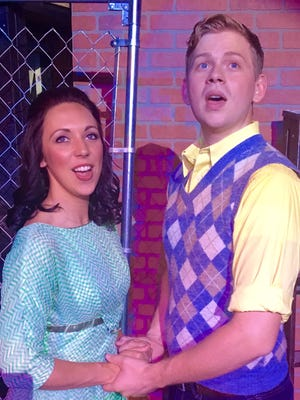 """Kate Welsh as Maria and Andrew Newton as Tony in CenterStage's production of """"West Side Story."""""""