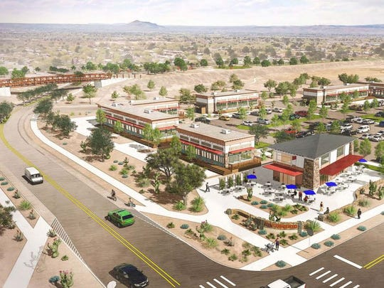 The Apodaca Blueprint presents this conceptual image for the Villa Mora property at the intersection of Madrid Avenue and Triviz Drive.