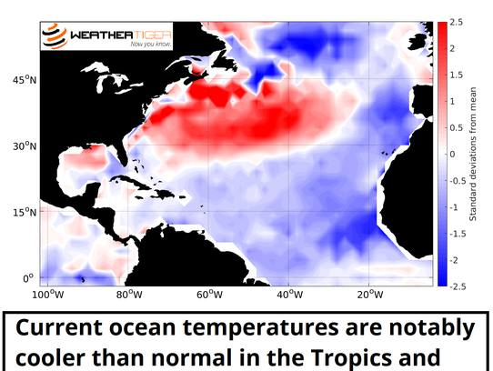 May 2018 relative SSTs