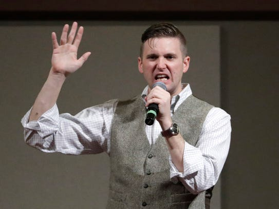 In this December 2016, photo, Richard Spencer speaks
