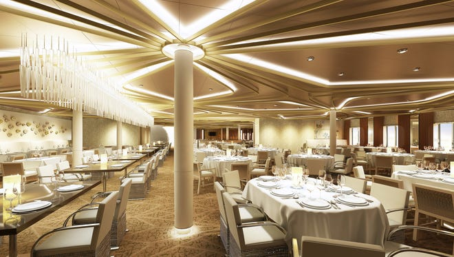 Royal Caribbean first debuted Dynamic Dining on Quantum of the Seas. Pictured is Chic, which serves contemporary cuisine.