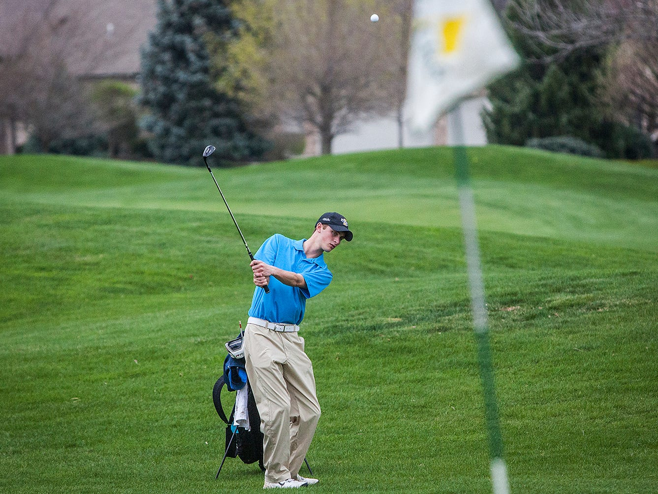 Yorktown's Caleb Morey practices at The Players Club recently.