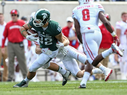 NCAA Football: Wisconsin at Michigan State