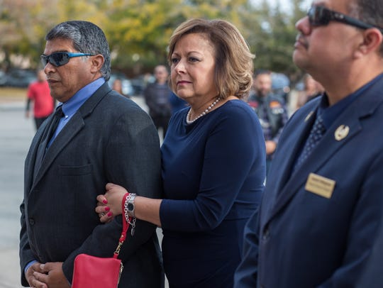 Governor Susana Martinez is pictured with her husband