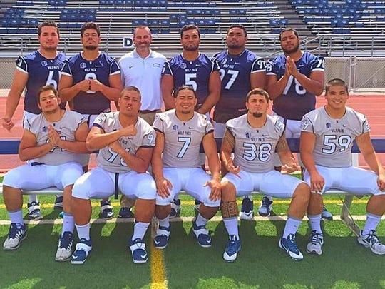 Marc Ma (No. 59), shown on the bottom row far right, was one of a handful of Polynesian players on the Wolf Pack who had a positive impact on the team's culture.