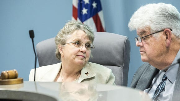 Superintendent Diane Douglas and state Board of Education