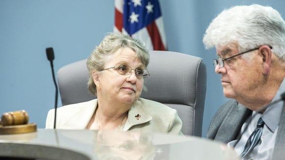 Superintendent Diane Douglas and state Board of Education President Greg Miller.