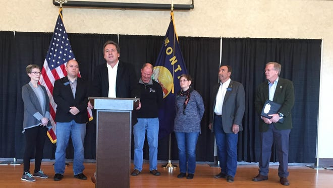 Gov. Steve Bullock outlines his proposal for infrastructure spending during the next biennium and a trust fund that would provide for future projects.