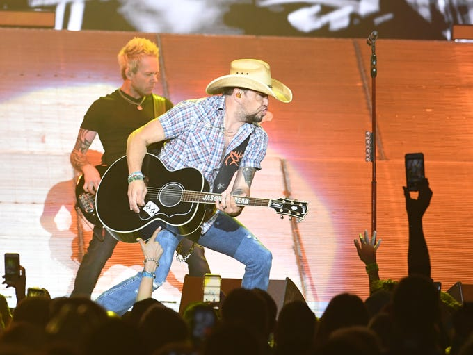Jason Aldean performs on Saturday, May 12, 2018 at