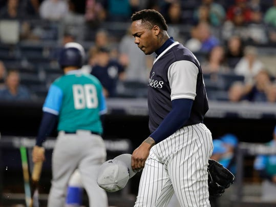 794630814 Alonso s HR off Chapman in 11th lifts Mariners over Yankees (6.61 25)