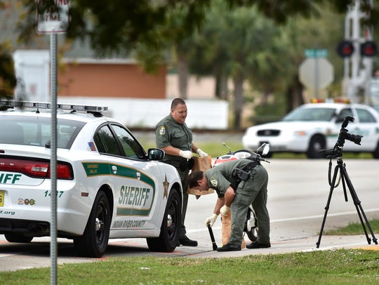 Indian River County Sheriff's Office deputies gather