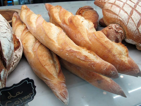 Baguettes and French breads at La Colmar Bakery & Bistro,
