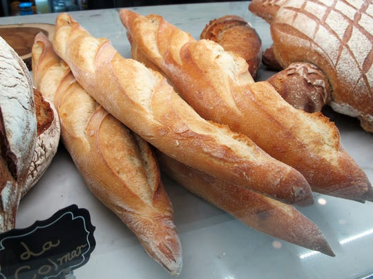Baguettes and French breads at La Colmar Bakery & Bistro, which opened this summer in Naples.