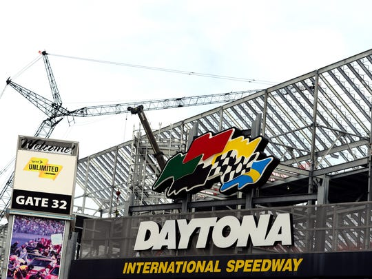 Construction at Daytona International Speedway is scheduled to be completed before the 2016 Daytona 500.