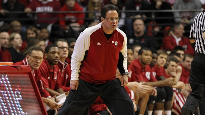 Indiana Hoosiers head coach Tom Crean during the first half of the game against the Illinois Fighting Illini at Assembly Hall. Indiana won 56-46.