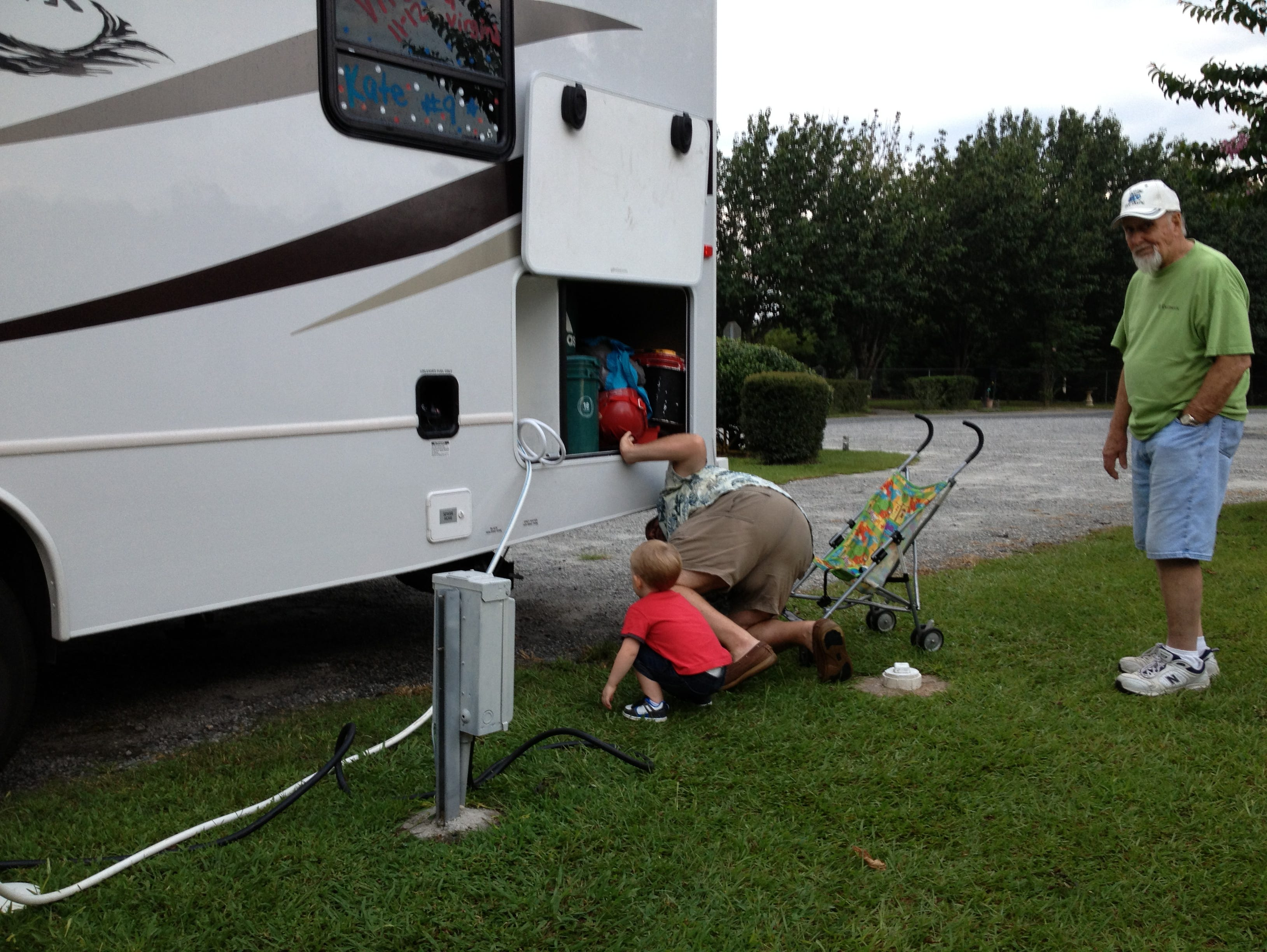 In the RV community, it's common to help out your neighbors -- no matter how old you are.