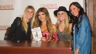Anita Cimera, Teresa Giudice, Michaela Schwartz and Tara Rielly.  Star of The Real Housewives of New Jersey, Teresa Giudice, stopped by Bookends in Ridgewood to meet fans and sign copies of her new book: Standing Strong.  10/05/2017