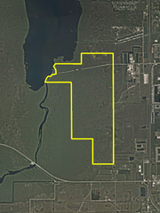This map shows the boundaries of the Lake Washington