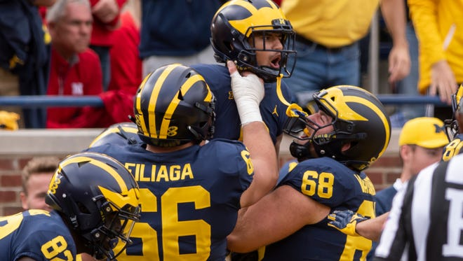 Michigan was among the biggest movers in the Associated Press Top 25 poll, released Sunday.