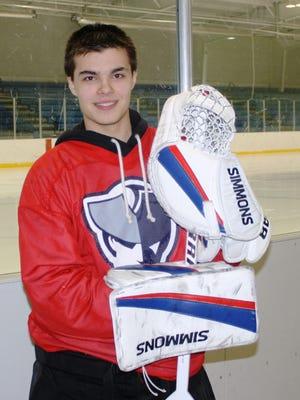 Senior goalie Matt Monendo has played a huge role in Livonia Franklin's hockey renaissance.