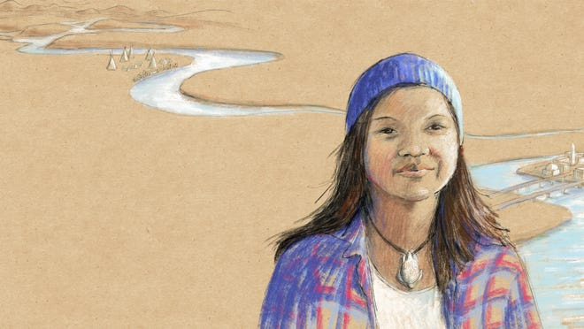 "Jasilyn Charger, who led long-distance runs to protest pipeline construction threatening water supplies to the Standing Rock Sioux Tribe, is among 14 young activists profiled in the new poetry collection ""No Voice Too Small,""  illustrated by Providence artist Jeanette Bradley."