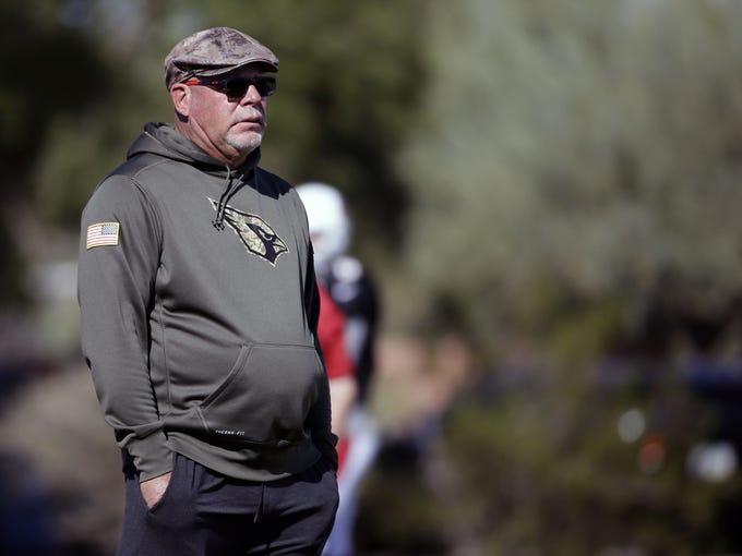 Arizona Cardinals Bruce Arians on Wednesday, Nov. 9,