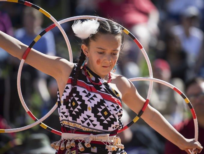 Feliciana Talachy (Pueblo of Pojaque) performs during