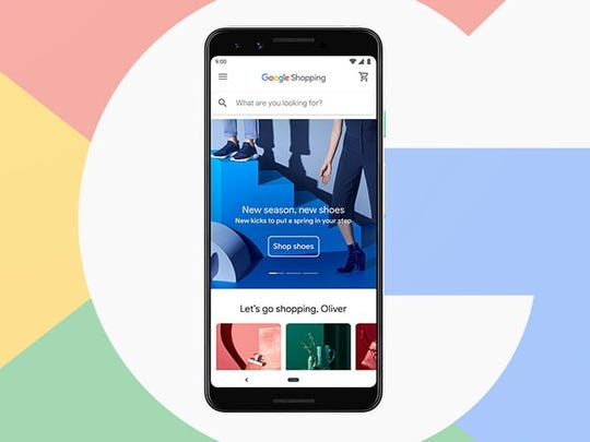 Google Shopping feature on smartphone
