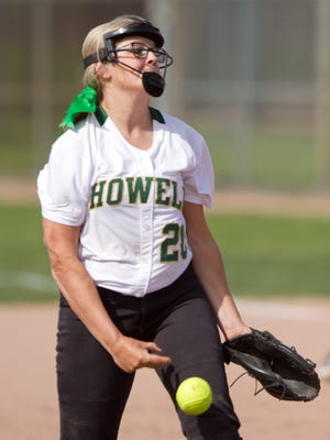 Howell pitcher Molly Carney struck out 12 and allowed only one run in the first game of a doubleheader sweep at Grand Blanc.