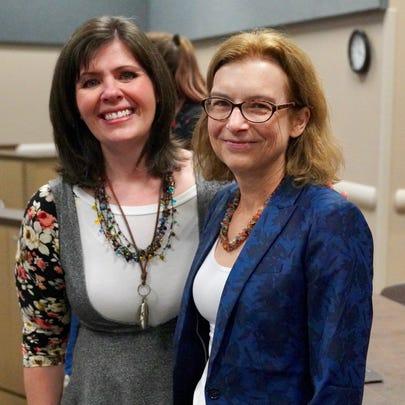 Elizabeth Daugherity, left, joined Dr. Elizabeth Henske,