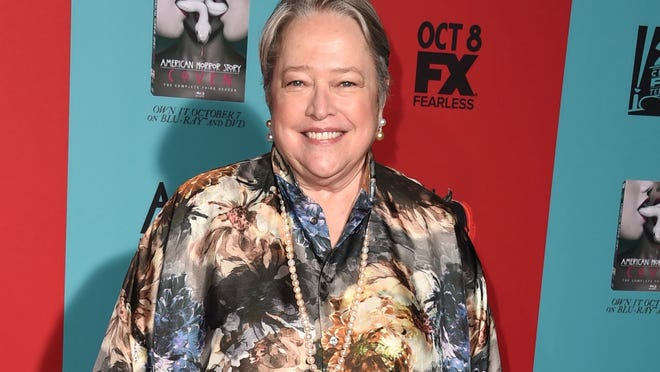 """HOLLYWOOD, CA - OCTOBER 05:  Kathy Bates arrives at the """"American Horror Story: Freak Show"""" - Los Angeles Premiere at TCL Chinese Theatre IMAX on October 5, 2014 in Hollywood, California.  (Photo by Steve Granitz/WireImage)"""