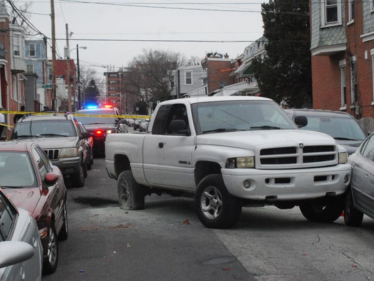 Charles May, 66, was fatally shot in this Dodge Ram