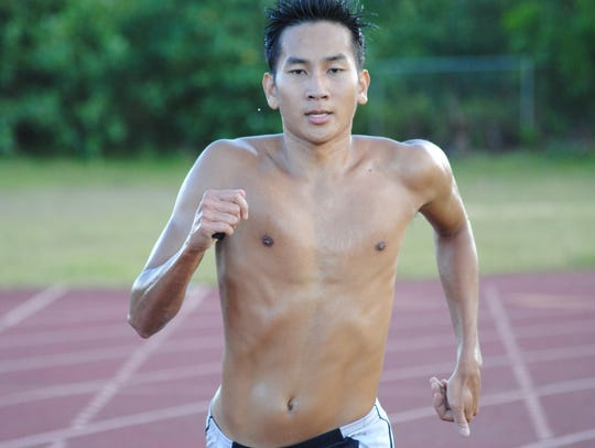 Olympian Joshua Ilustre, who represented Guam at the