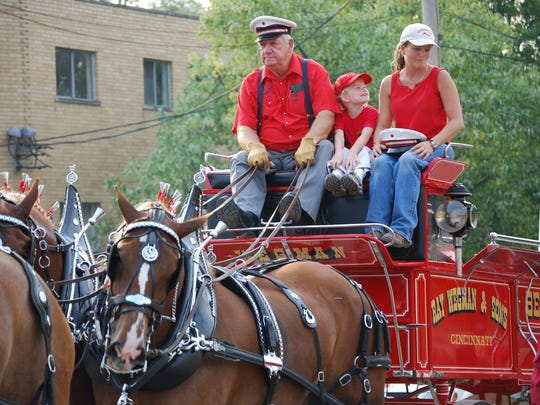 Ray Wegman has entered his Belgian draft horses and carriage in the Opening Day Parade for decades. This year he's got a special treat for Cincinnati -- he'll unveil a restored tally-ho carriage once owned by James N. Gamble.