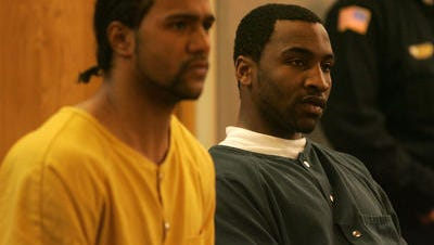 Joshua Simmons and Kalil Griffin appear in Superior Court in Monmouth County in 2011 to face charges in  the murder of Ronald Chisolm.