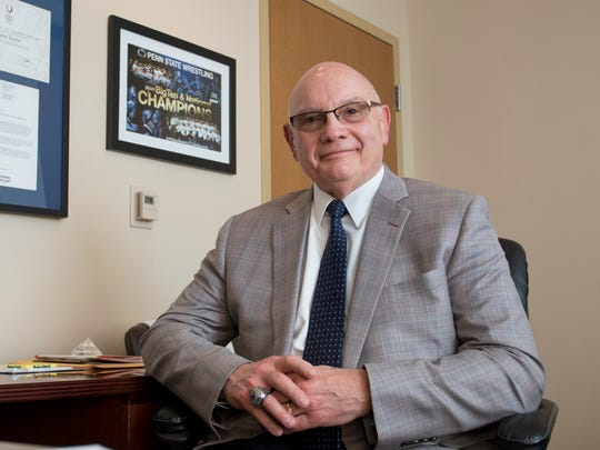 Executive Director and Senior Vice President David M. Joyner, M.D., poses in his office at the Andrews Institute for Orthopaedics & Sports Medicine in Gulf Breeze on Thursday, February 15, 2018.