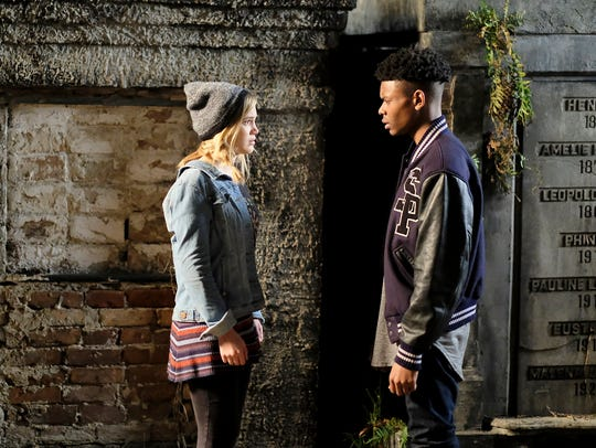 Olivia Holt as Tandy and Aubrey Joseph as Tyrone on