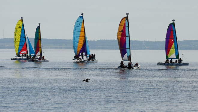 Oakwood Elementary School fifth-graders got a taste of sailing on Lake Winnebago during Oshkosh Schools Sail Week in this September 2015 file photo.