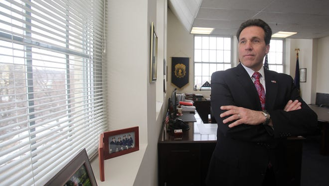 Yonkers Police Commissioner Charles Gardner was photographed in his office in Yonkers on March 5, 2014.