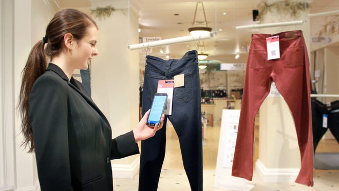 Seattle store Hointer lets shoppers just touch their smartphones to a coded tag on a displayed item and then select a color and size via their phone. Technology in the store keeps track of the items, and by the time a shopper is ready to try them on, they're already at the dressing room.