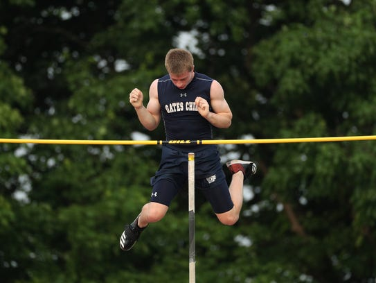 Gates-Chili's Dylan DelConte won the pole vault event