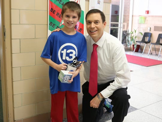Tucker Brown, a third-grader at R.C. Waters Elementary